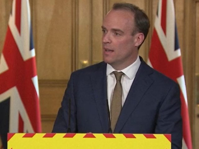 Foreign Secretary Dominic Raab. Photo: PA