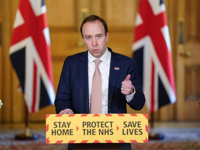 Health Secretary Matt Hancock, Photo: PA