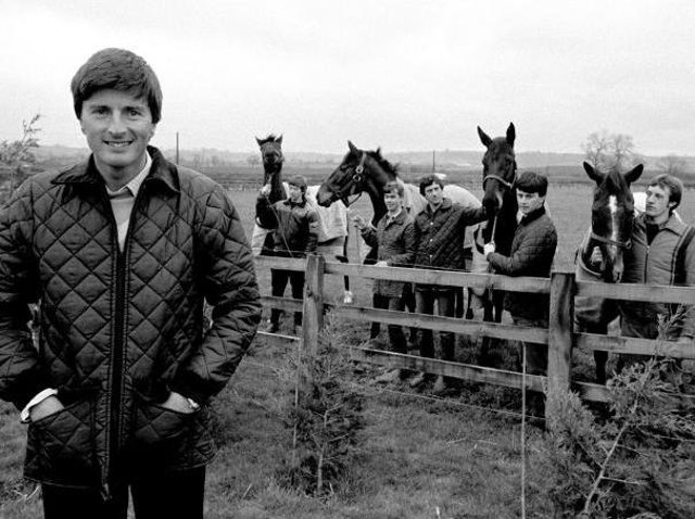 Michael Dickinson with his famous five horses from the 1983 Cheltenham Gold Cup