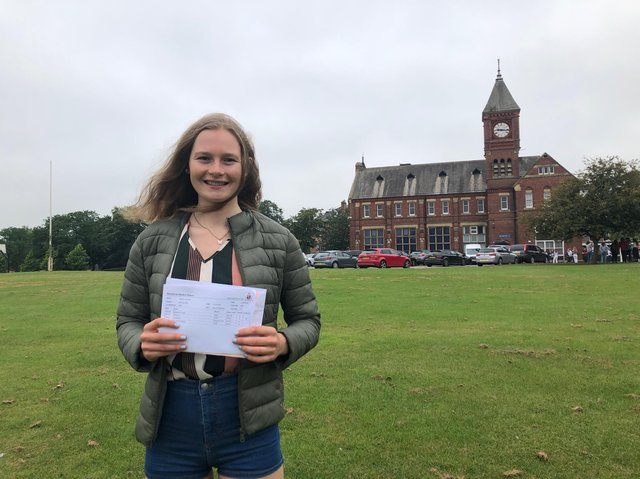 Athlete Abi Smith is considering a full time career in cycling after receiving her A Level results from Ripon Grammar School.