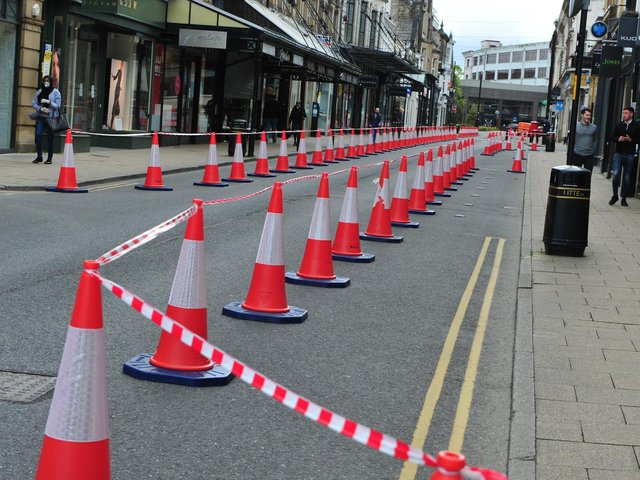 Both Harrogate Borough Council and North Yorkshire County Council are united in the belief that if the town is to have a green future, cars need to get less priority in streets like James Street.