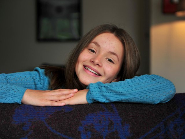 13-year-old Imogen Clawson stars in the new Channel 5 adaptation of All Creatures Great and Small.