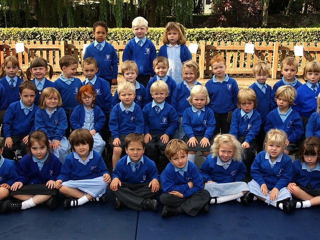 New starters at Pannal Primary School in 2006.