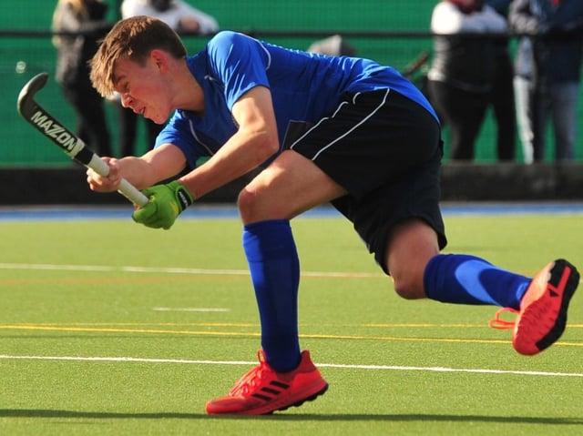 Harrogate Hockey Club under-18s captain Alfie Weaver. Picture: Gerard Binks