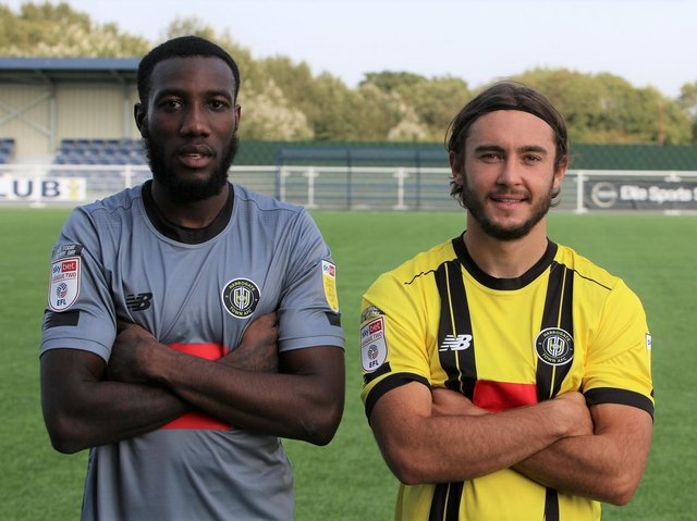 Harrogate Town have completed a double transfer swoop.