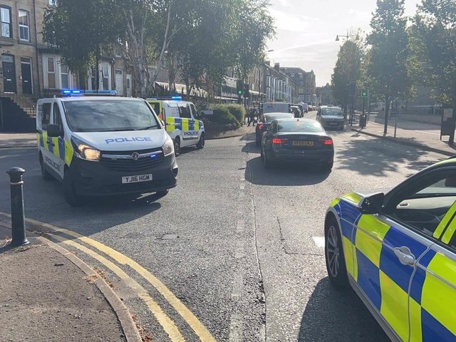 Armed police blocked multiple Harrogate streets. Picture: Phil Standen.