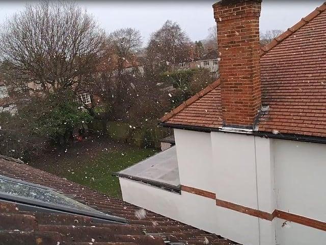 Snowfall in Harrogate.