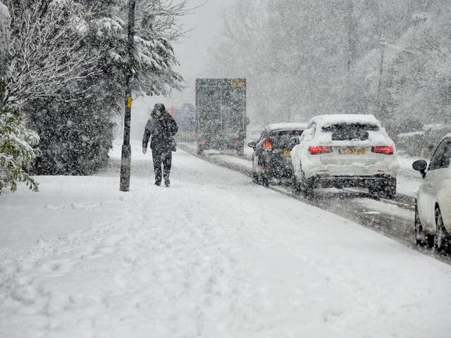 Heavy snow has fallen across the district. Picture: Steve Riding.