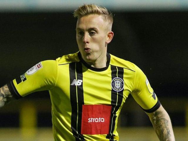 Calvin Miller in action for Harrogate Town. Pictures: Matt Kirkham