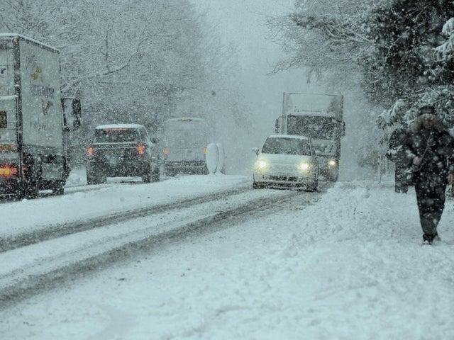 Heavy snowfall has already caused travel disruption across the Harrogate district and more is forecast.