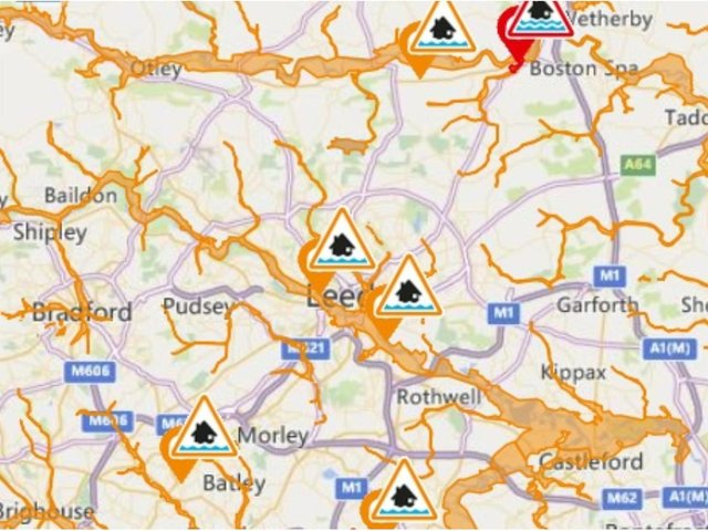 The warnings include one - at Collingham - which states 'immediate action is required'. Here are the locations and information for each warning (information correct 7.30am Jan 20):  cc Gov
