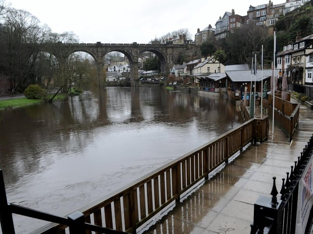 Knaresborough is one of the areas most likely to be hit by flooding. Picture: Gerard Binks.