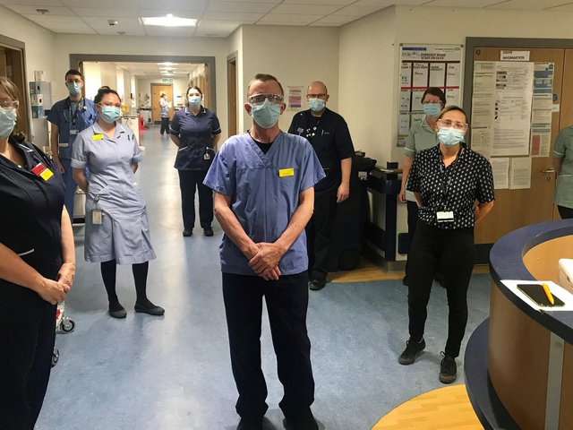 NHS staff who work on Harrogate hospital's emergency and trauma ward.