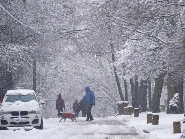 A yellow weather warning for snow and ice is in place across Yorkshire.