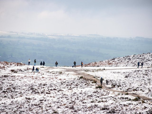 There is a Met Office amber warning in place for heavy snow across Yorkshire. Photo: Ilkley.