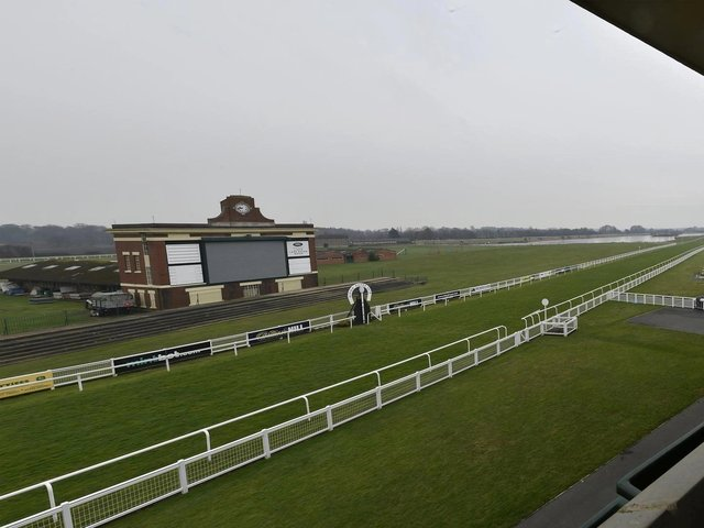 Ripon Racecourse opened as a Covid vaccine hub on Wednesday.
