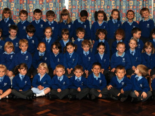 New starters at Pannal Primary School in 2008.