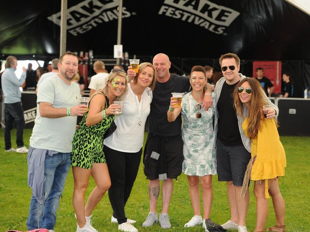 Flashback to 2019, the last time Harrogate Fake Festival took place and a nice photo of crowd members the Gunter family enjoying the event. (Picture Gerard Binks)