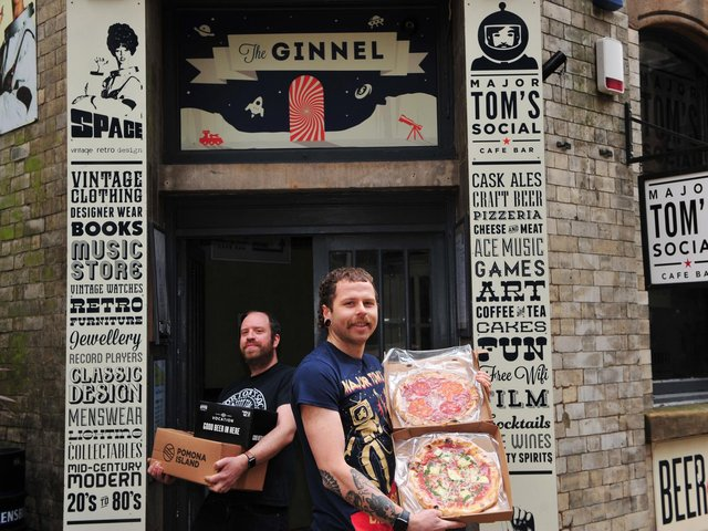 Pictured from left Toby Smith and George Mcleod from Major Tom's in Harrogate.