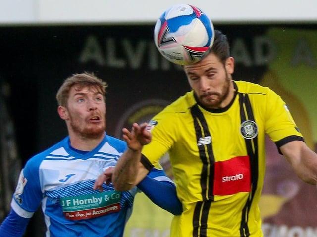 Harrogate Town beat Barrow 1-0 when the sides met at the EnviroVent Stadium back in October. Pictures: Matt Kirkham