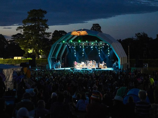 Flashback to a previous Deer Shed Festival in North Yorkshire with its main stage lit up for a headline act.