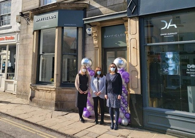 Darryl Taylor Optometrists and Samantha Parker Optometrists - both in Knaresborough - have merged and become part of the Bayfields Opticians and Audiologists. Pictured (l to r): practice manager Sarah Mills, receptionist Carole Ratcliffe, and optometrist Samantha Parker.
