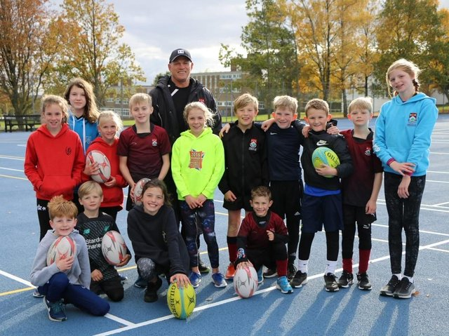 Flashback - Young attendees at the Autumn 2020 rugby camp in Harrogate led by Ashville College's Head of Rugby, Gary Mercer.