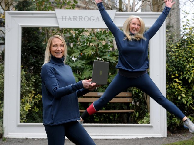 Pictured from left: Claire Eccles and Louise Annat, the faces behind Heaven & Hell Fitness. Picture: Gerard Binks.