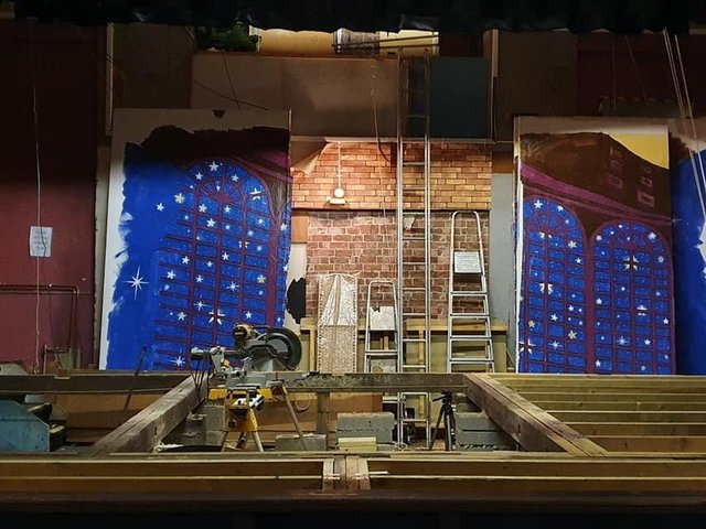 The stage is bare...but shows are coming back this summer. Our picture shows the new stage being built at Frazer Theatre in Knaresborough.