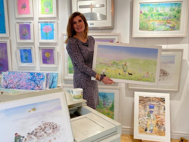 The Yorkshire Shepherdess at Harrogate artist Anita Bowerman's gallery.