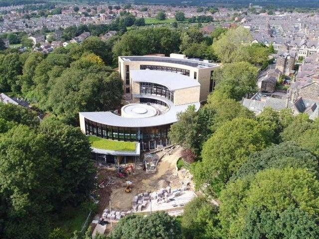 Harrogate Borough Council's new headquarters at Knapping Mount during its construction.