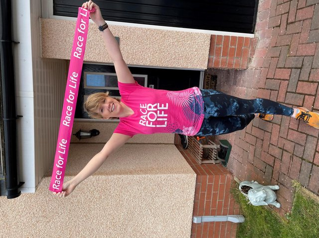Dr Saadia Karim, a cancer scientist, and Heather Duff, who is living with brain cancer, call on people to take part in Race for Life at Home.