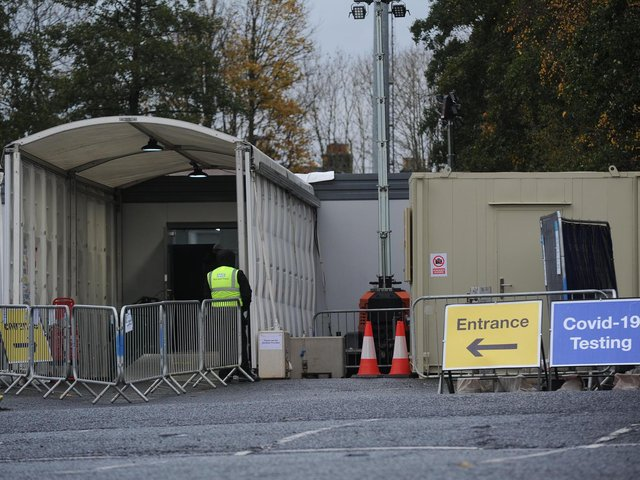 The Dragon Road Car Park testing site will have to be moved for the reopening of Harrogate Convention Centre.