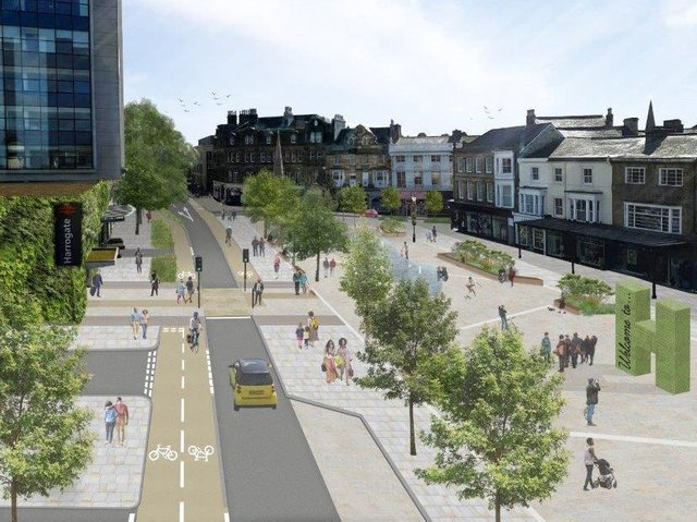 This is what Station Parade could look like with one lane of traffic.