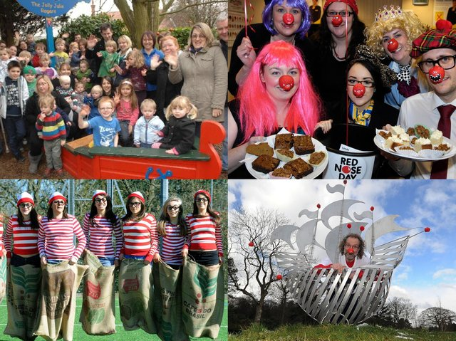 Here are 14 pictures from Comic Relief events in years gone by.