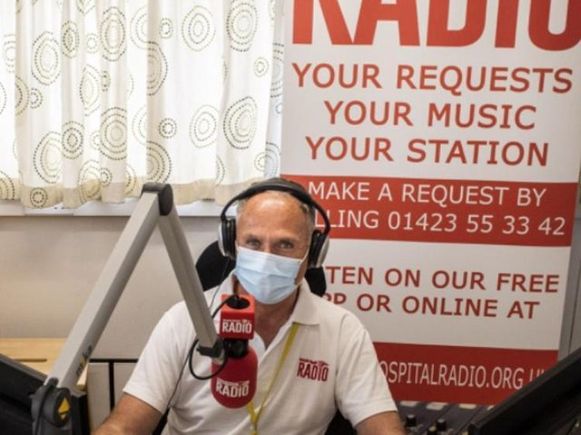 Harrogate Hospital Radio chairman Mark Oldfield