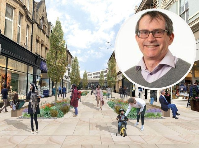 Councillor Paul Haslam, who sits on both Harrogate Borough Council and North Yorkshire County Council, is backing plans for the pedestrianisation of James Street.