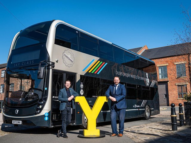 Welcome to Yorkshire CEO James Mason (left) and Transdev in Yorkshire CEO Alex Hornby discuss their shared plans to promote bus travel to visitors this summer, including to walkers as part of the tourism agency's original 'Walkshire' campaign