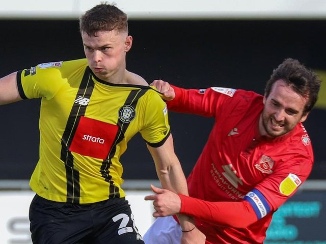 Harrogate Town were beaten 1-0 at home by Morecambe last time out. Picture: Matt Kirkham