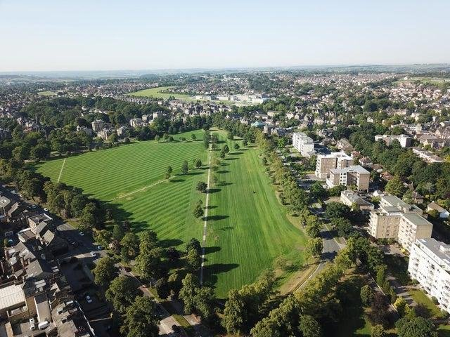 Harrogate's Stray from above.