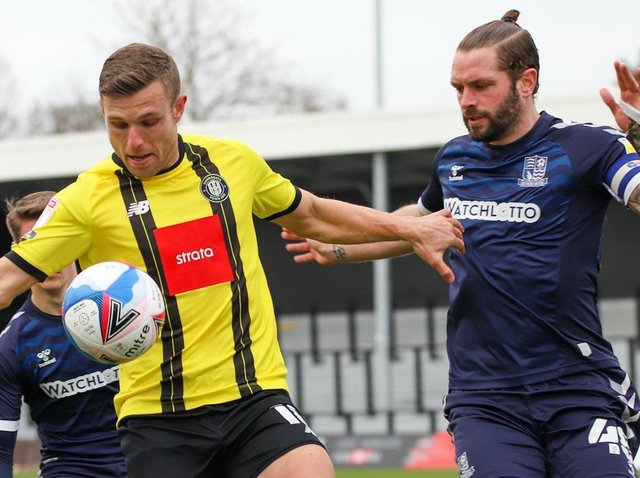Jack Muldoon missed Harrogate Town's clearest chance to equalise against Southend United. Pictures: Matt Kirkham