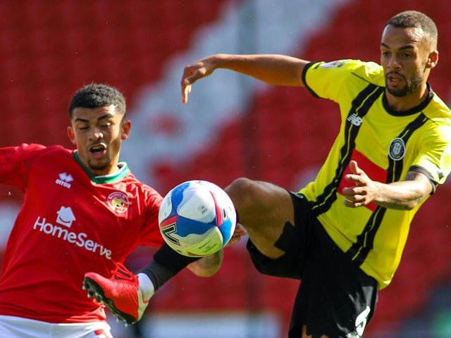 Harrogate Town drew 2-2 with Walsall the last time the sides met. Pictures: Matt Kirkham