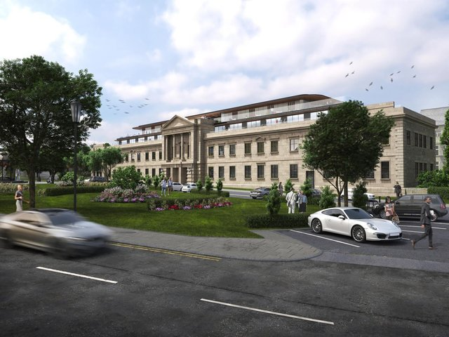 The plans for two new storeys at Crescent Gardens in Harrogate submitted this week by Impala Estates.