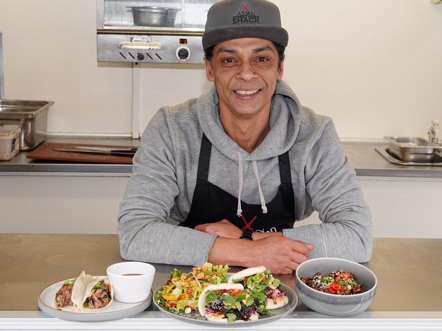 Proper street food from a 'shack': Whaheed Rojan who has launched the Asian Street Food Shack in Harrogate.