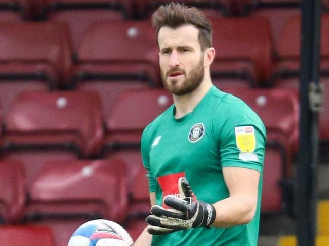 Harrogate Town goalkeeper James Belshaw. Pictures: Matt Kirkham