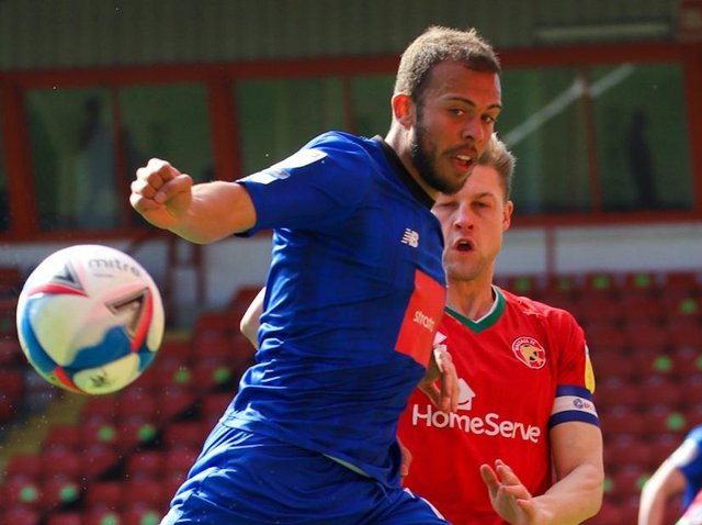 Harrogate Town striker Aaron Martin was substituted at half-time during Good Friday's goalless draw at Walsall. Pictures: Matt Kirkham