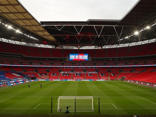 Wembley Stadium will host 2019/20 Non-League Finals Day on May 3, but no fans will be allowed to attend. Pictures: Getty Images