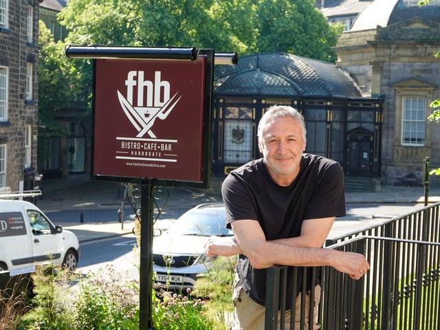 Fashion House Bistro owner David Dresser outside his bar-bistro on Swan Road in Harrogate.