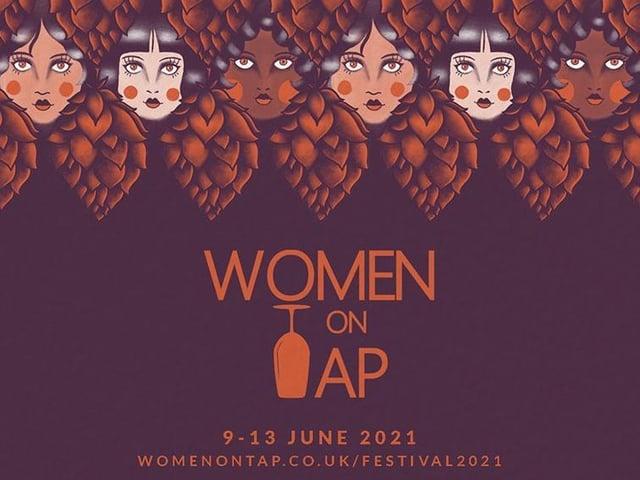 Harrogate's Women On Tap Festival 2021 - Part of the poster designed by Hannah Lyons.