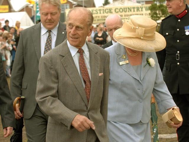 Prince Philip pictured in Harrogate in 2008.